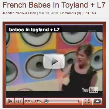 (VIDEO) French Babes In Toyland + L7