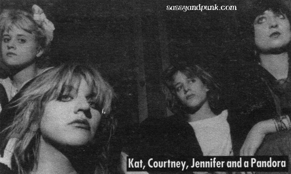 Kat Bjelland, Courtney Love, Jennifer Finch, Suzanne Ramsey. Sugar Babylon aka Sugar Baby Doll c. 1985