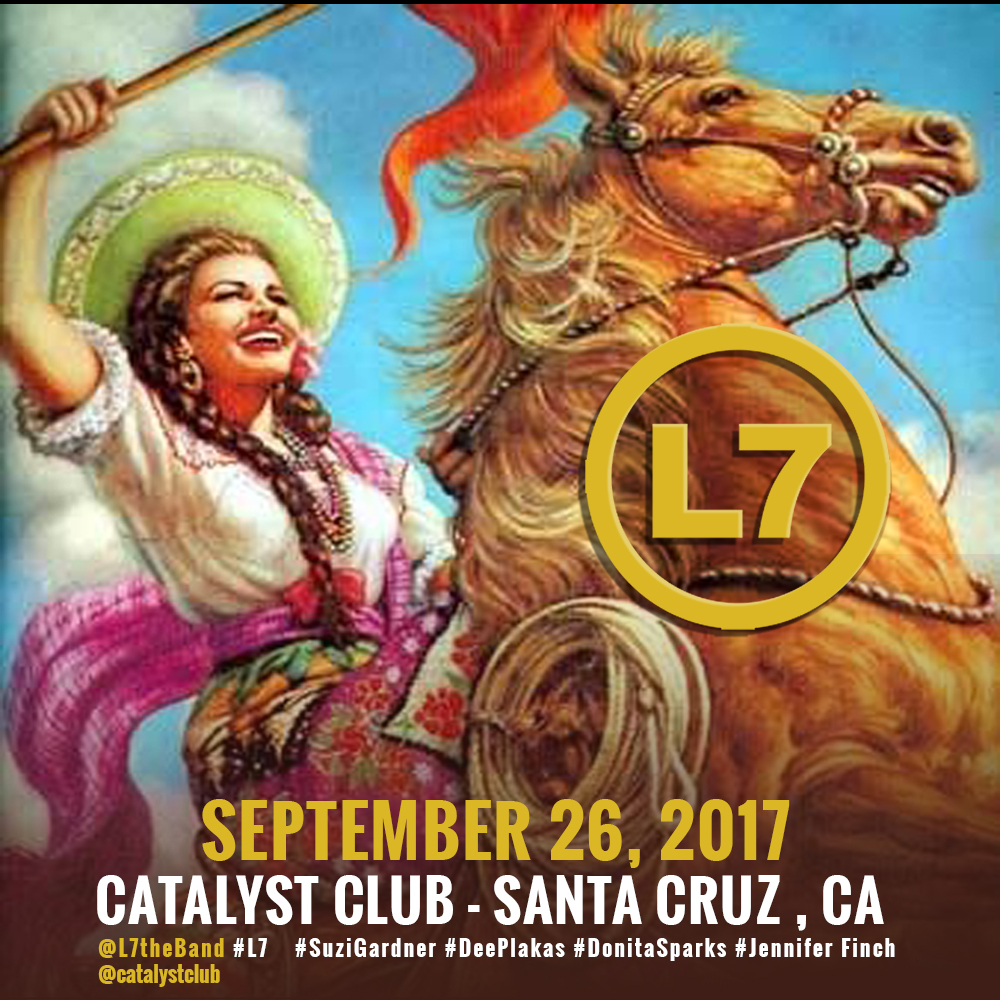 L7 to play Santa Cruz September 26, 2017