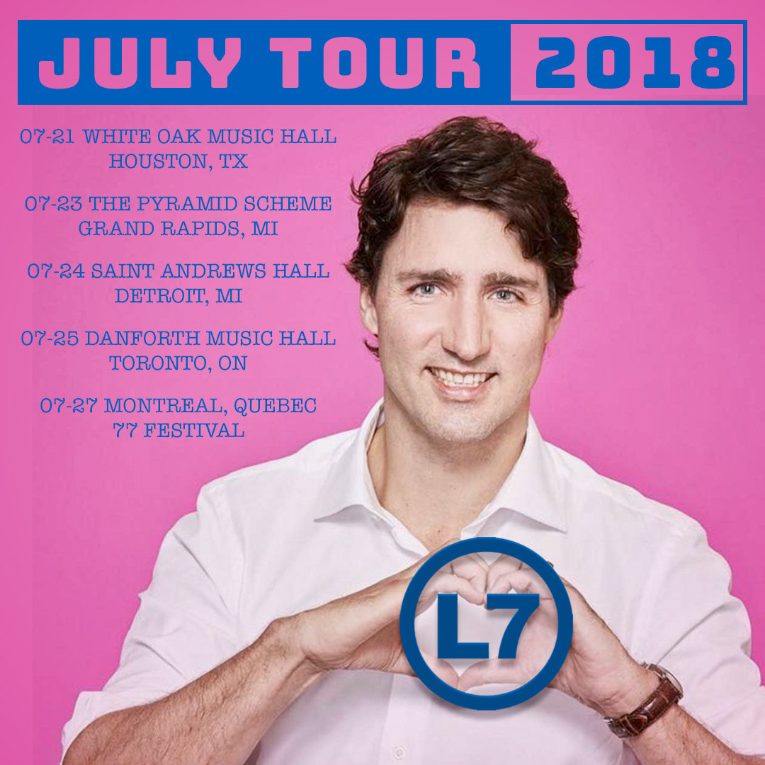 2018-07 L7 Tour Dates